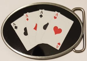 Four Aces Cards Belt Buckle. Code A0083